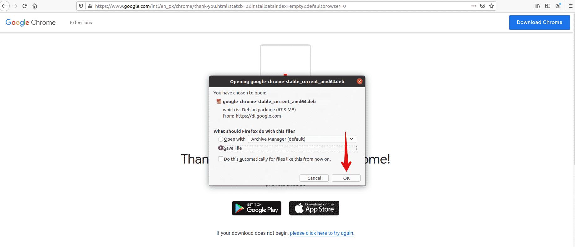 Install Google Chrome in Ubuntu