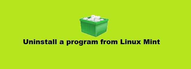 Uninstall a program from Linux Mint 20