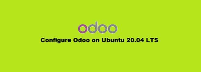 Configure Odoo on Ubuntu 20.04