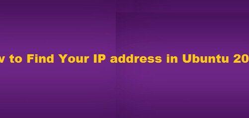 Find IP Address Ubuntu 20 04