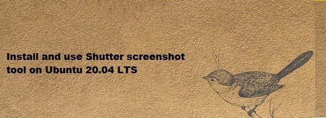 Install and use Shutter screenshot tool in Ubuntu