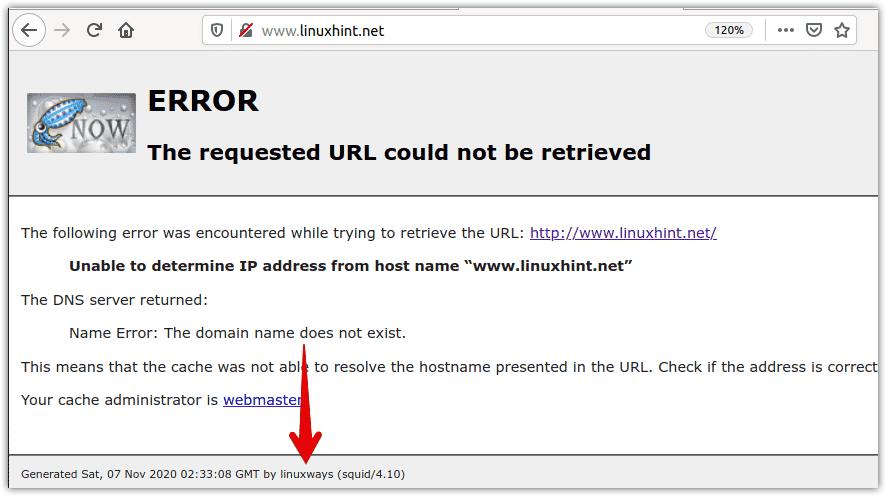 Configure squid proxy server