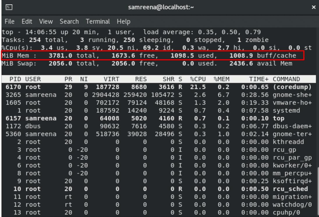 Check memory usage