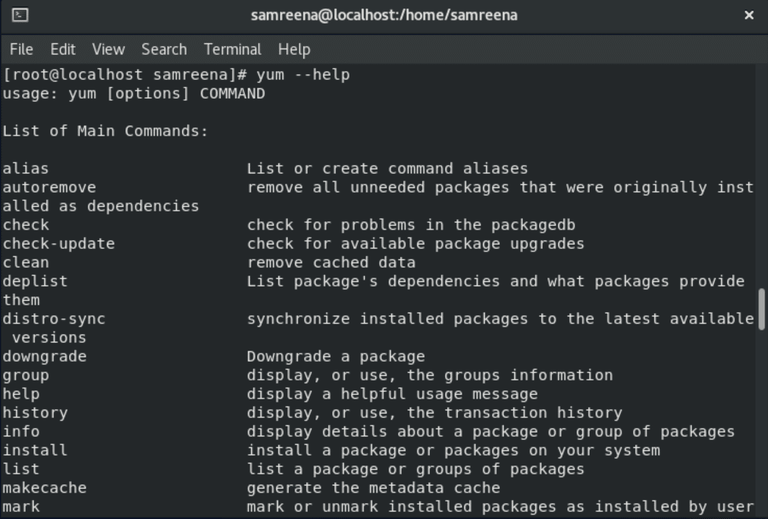 How to uninstall programs from CentOS
