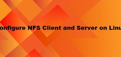 Configure NFS Server and Client in Linux
