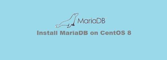 Install MariaDB CentOS 8