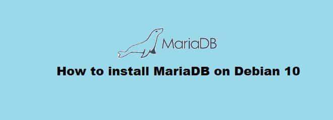 Install MariaDB on Debian 10