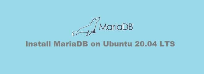Install MariaDB on Ubuntu 20.04