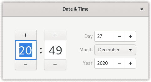changing date and time