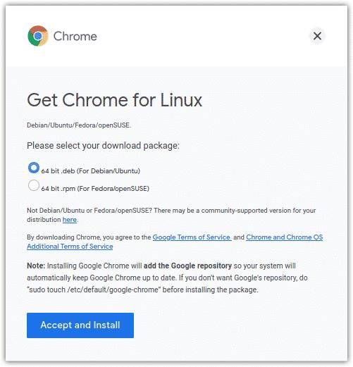 Download Google Chrome for Debian/Ubuntu