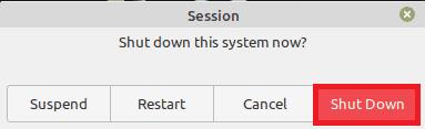 reboot linux mint