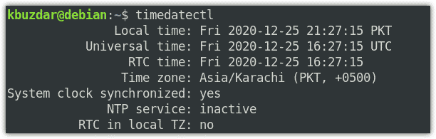 timedatectl command
