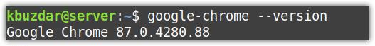 Version of Google Chrome