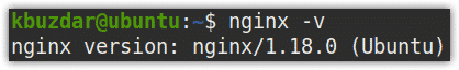 Nginx version