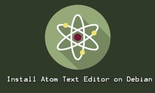 How to Install Atom Text Editor on Debian 10