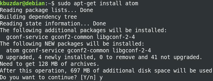 installing Atom via apt