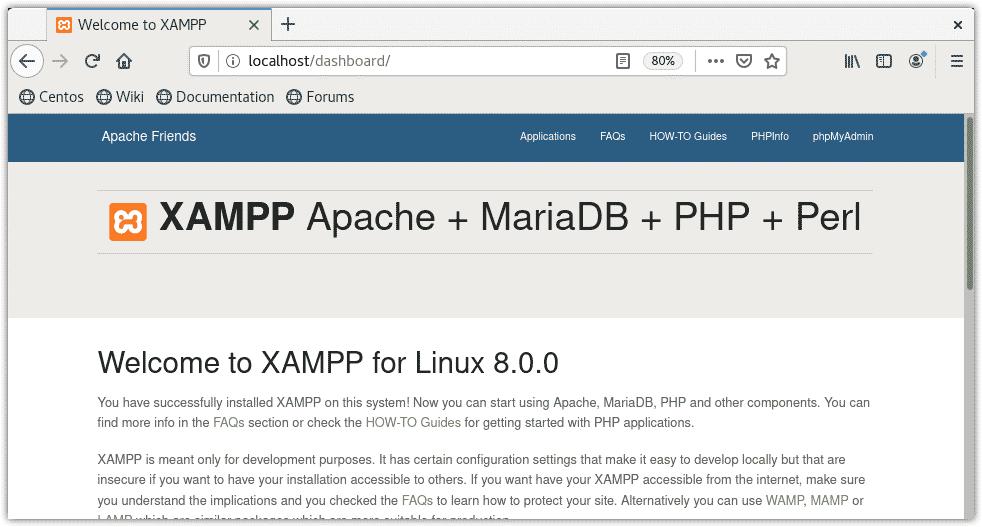 verify XAMPP installation