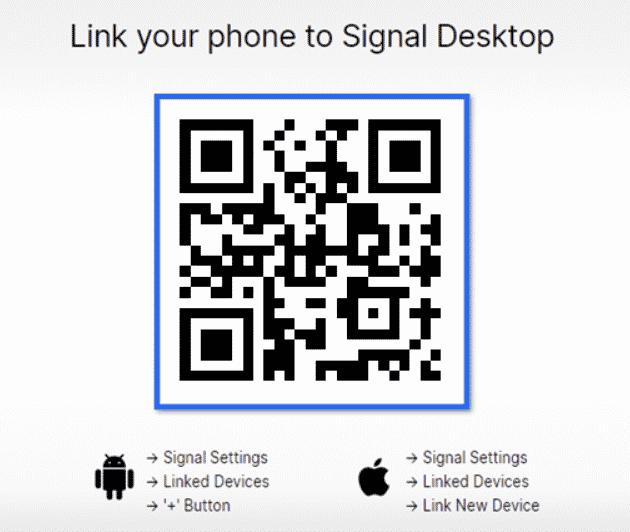 signal QR code