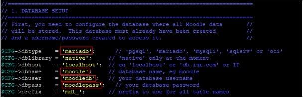 Configure Moodle