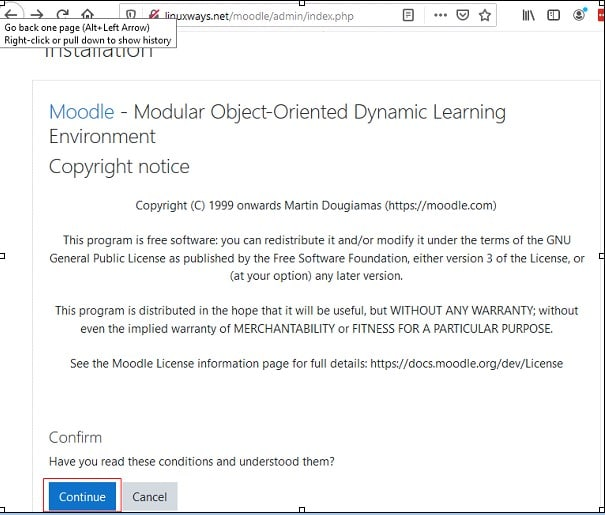Install Moodle