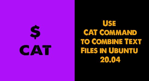 Use CAT Command to Combine Text Files in Ubuntu 20.04