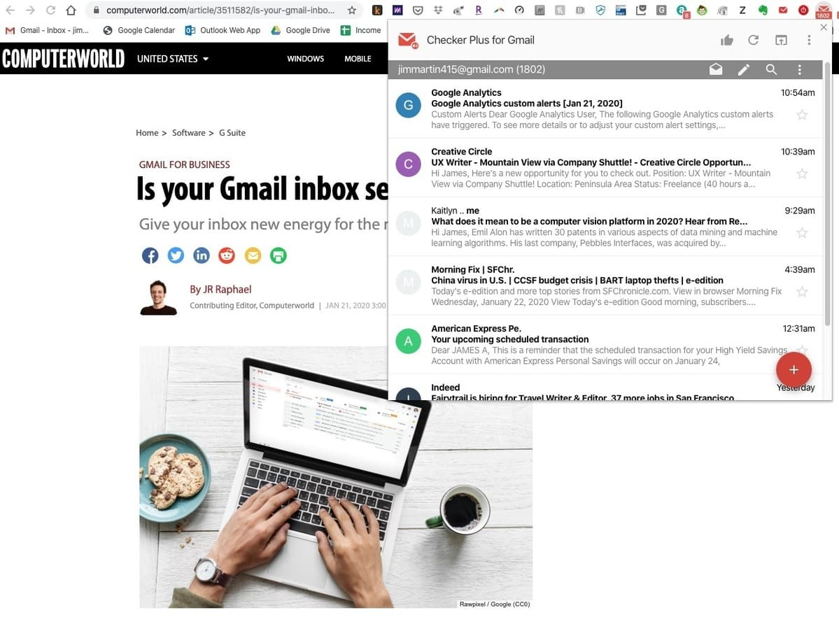The best Google Chrome extensions for business pros | Computerworld