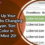 Spice Up Your Terminal by Changing Font Type, Size, and Color in Linux Mint 20!
