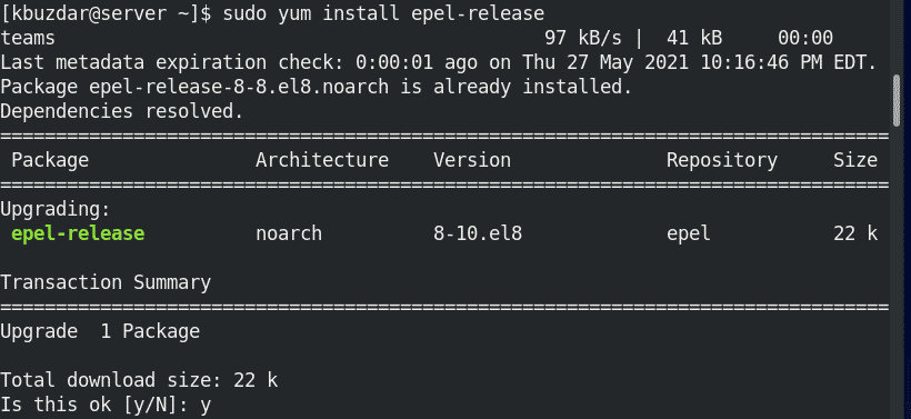 enable EPEP repository