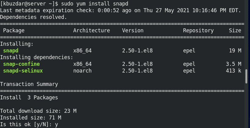 installing snapd