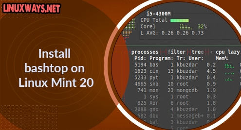 Install bashtop on Linux Mint 20