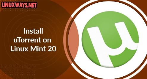 Install uTorrent on Linux Mint 20