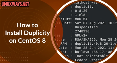 How to Install Duplicity on CentOS 8