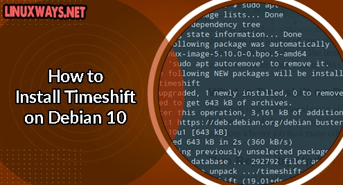 How to Install Timeshift on Debian 10