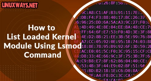 How to List Loaded Kernel Module Using Lsmod Command