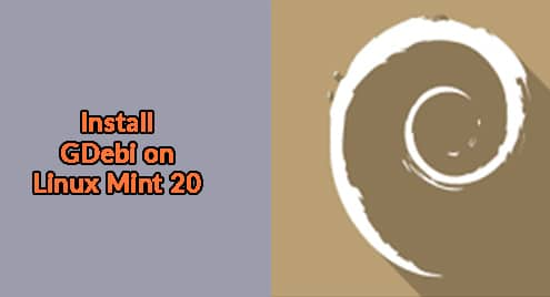 Install GDebi on Linux Mint 20
