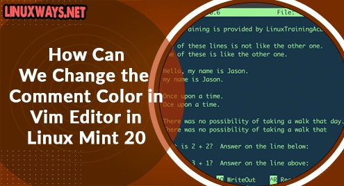 How Can We Change the Comment Color in Vim Editor in Linux Mint 20